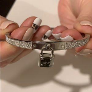 Michael Kors Jewelry - Silver pave lock bracelet